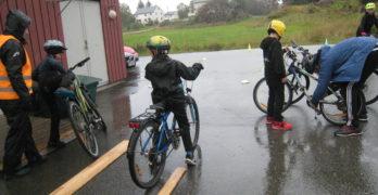 Sykkeldag på uteskolen.