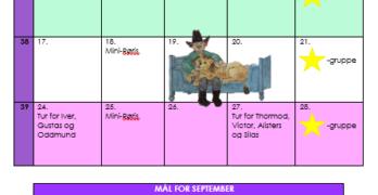 Månedsplan september 2018