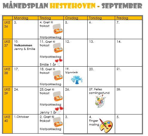 Månedsplan september