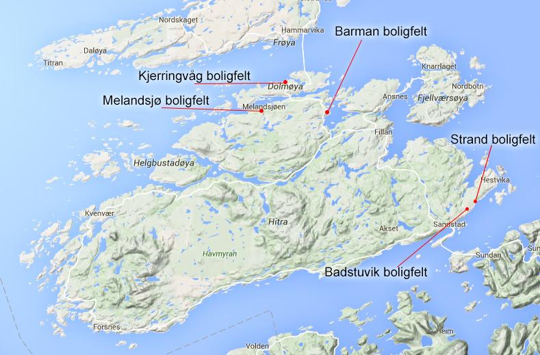 kart over hitra Salg av boligtomter   Hitra kart over hitra