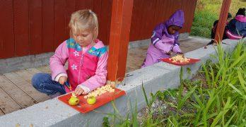 Grønnsakssuppe på uteskolen 2. 3. og 4. trinn