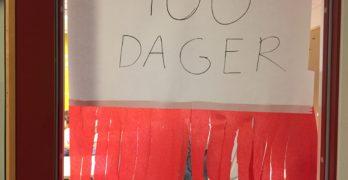 Feiret 100 dager på skolen med fest!