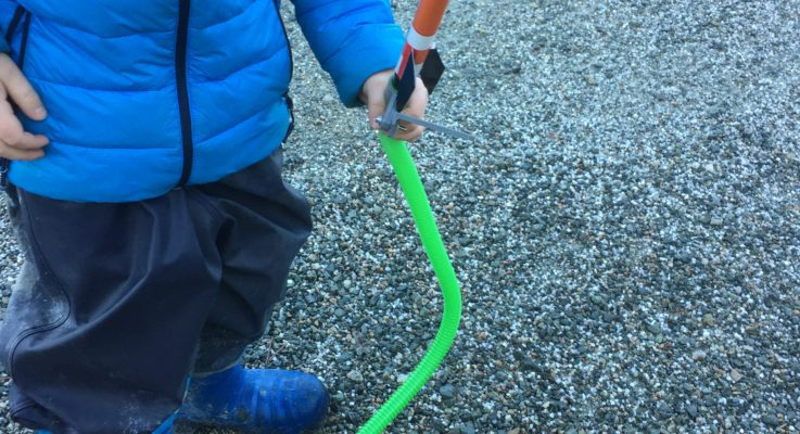 Uteskole til rakettskytefelt i Nordvika