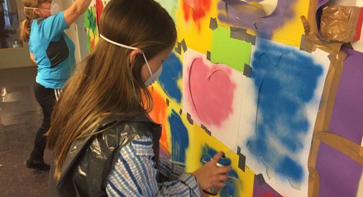 Street art og og dunst av spraymaling